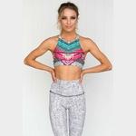 Surv-tement-pour-femmes-2-pi-ces-Yoga-ensemble-imprim-fleuri-femmes-soutien-gorge-pantalons-longs