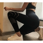 Leggings femme sans couture fitness course à pieds muscuation gym