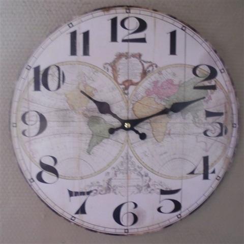 créa idéa home horloge globe
