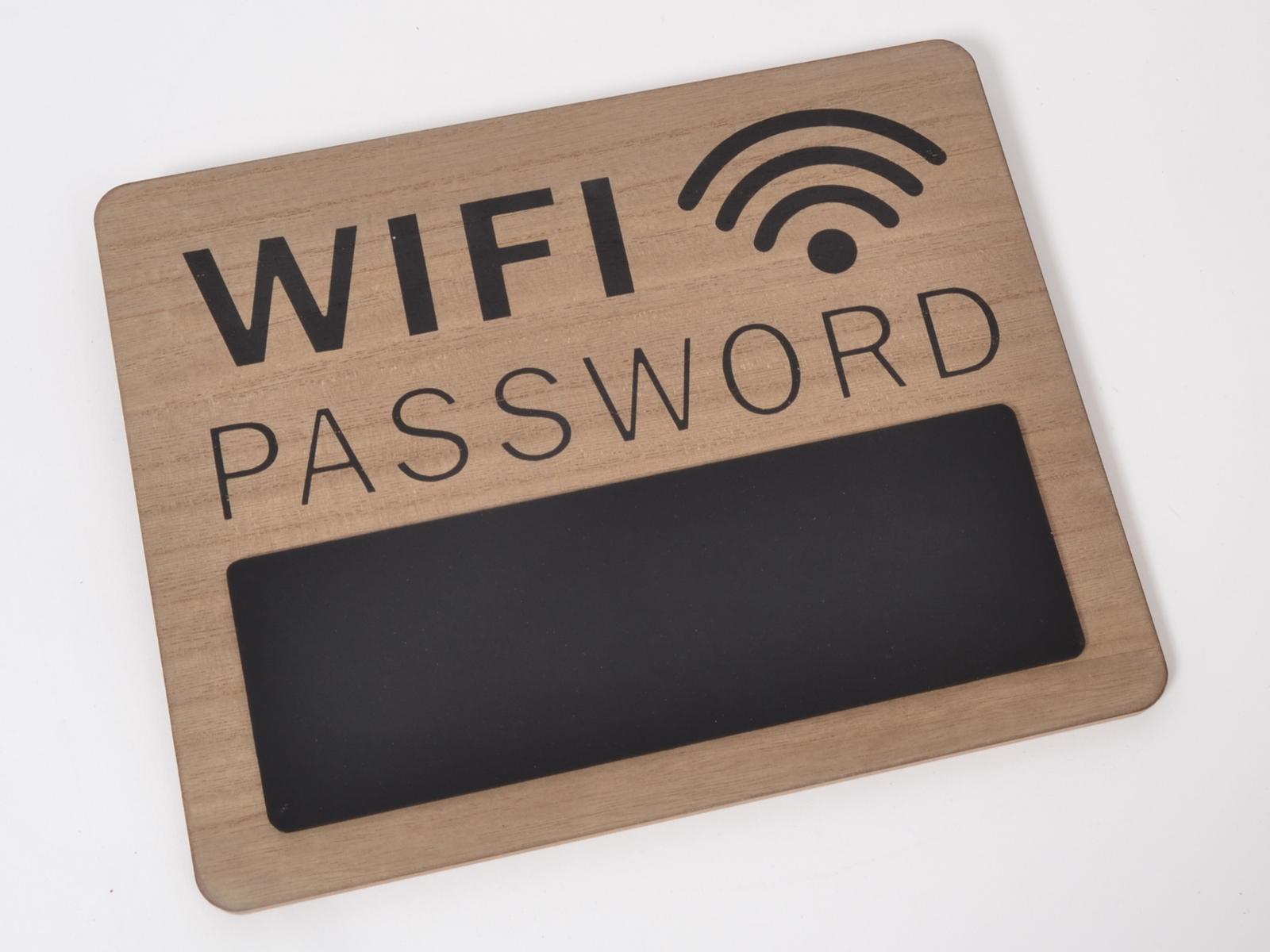 crea idea home geek pancarte wifi password