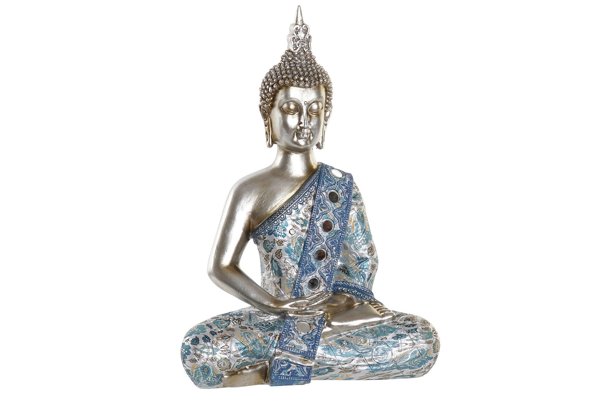 Statue Bouddha turquoise L