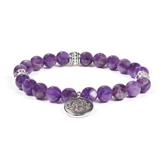 Bracelet Mala Améthyste Lotus