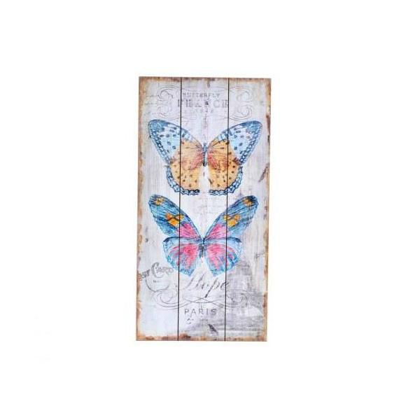 créa idéa home tableau bois papillon