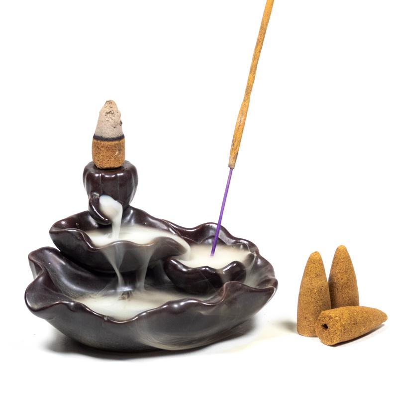 Brûleur encens à refoulement étang de Lotus