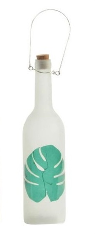 créa idéa home bouteille tropical lumineuse led