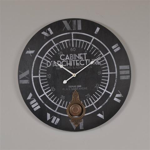 créa idéa home Horloge pendule cabinet d'architecte