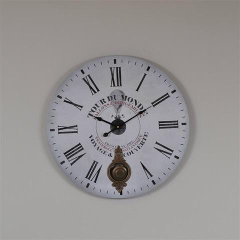 créa idéa home Horloge pendule tour du monde