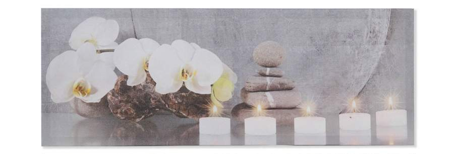 crea idea home tableau toile orchidée