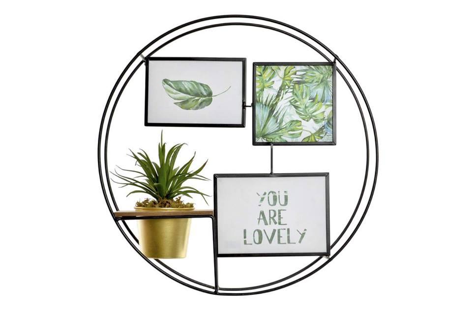 crea idea home multiphoto green metal