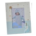 créa idéa home cadre Baby licorne bleu