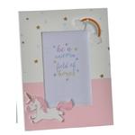 crea idea home cadre photo baby licorne rose
