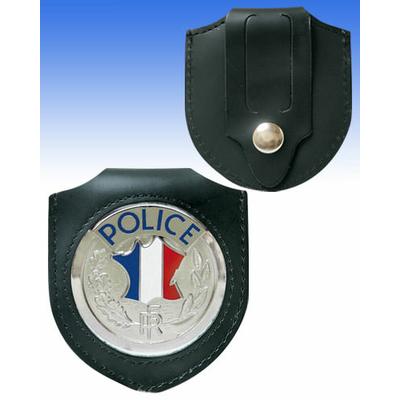 Porte insigne médaille en cuir