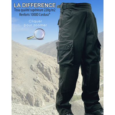 Pantalon militaire guerilla noir ripstop
