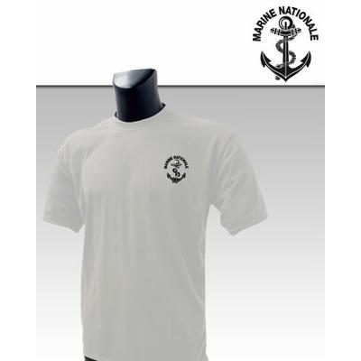 Tee-Shirt Blanc imprimé Marine Nationale