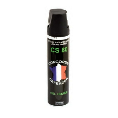 Bombe lacrymogène gel cs 75 ml