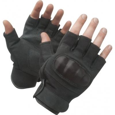 Gants mitaines coqués noirs