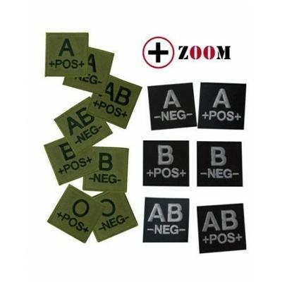 Ecusson groupe sanguin noir ou vert