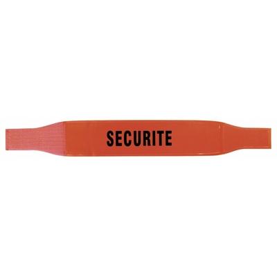 Brassard pour agent de sécurité réflexite orange
