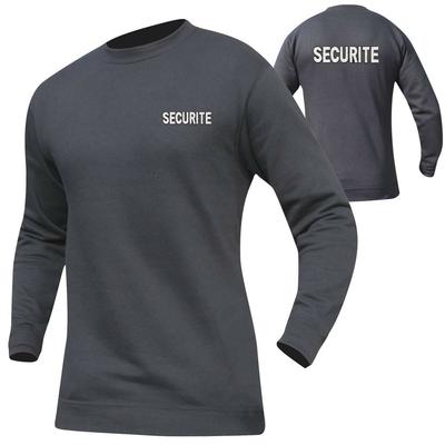 Sweat shirt pour agent de sécurité noir brodé
