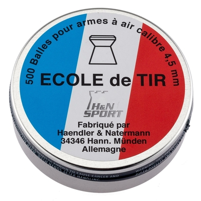 Boite de 500 plombs ECOLE DE TIR 4,5 mm