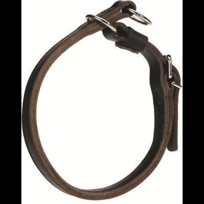 Collier CUIR ÉTRANGLEUR gros anneau