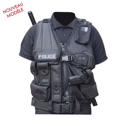 Gilet force intervention avec holster PA ou Taser