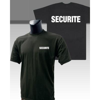 Tee-shirt noir imprimé sécurité