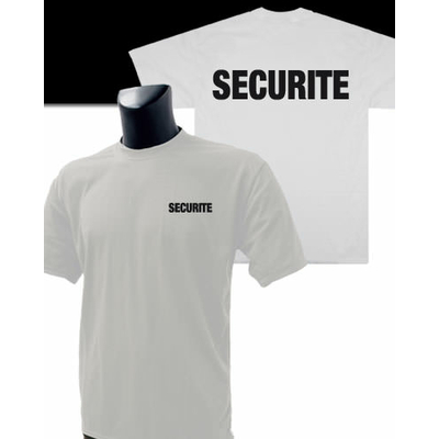 Tee-Shirt Blanc imprimé SECURITE
