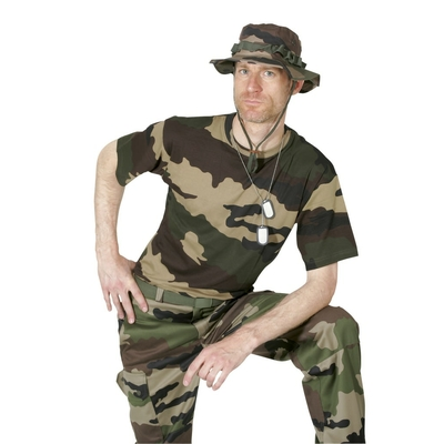 Tee-shirt militaire camouflage