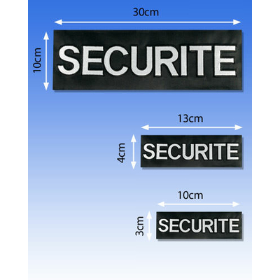 Flap brodé SECURITE