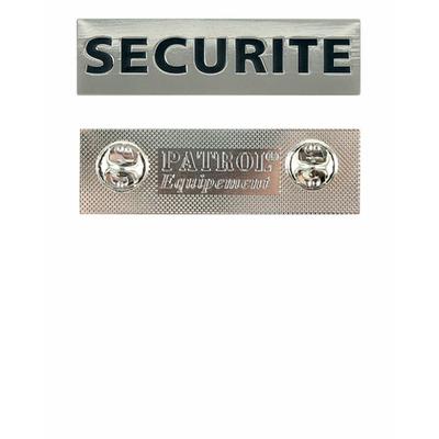 Plaque métal sécurité