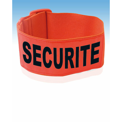 Brassard sécurité orange fluo réfléchissant