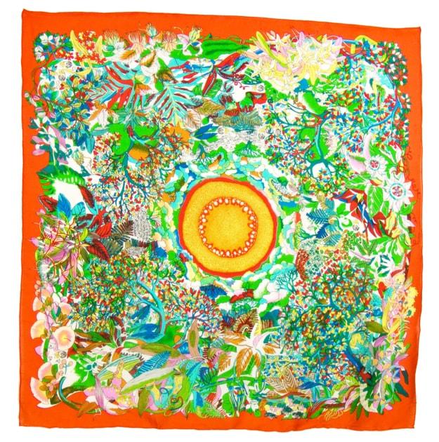 foulard-carre-de-soie-orange-fleuri-105-x-105-cm-min