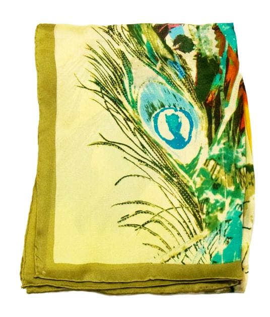 foulard-carre-de-soie-vert-plumes-105-x-105-cm-5-min