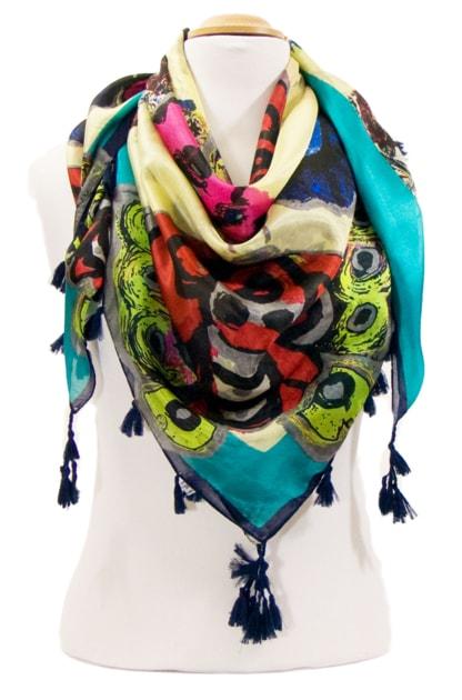 foulard-en-soie-papillons-vert-3-min