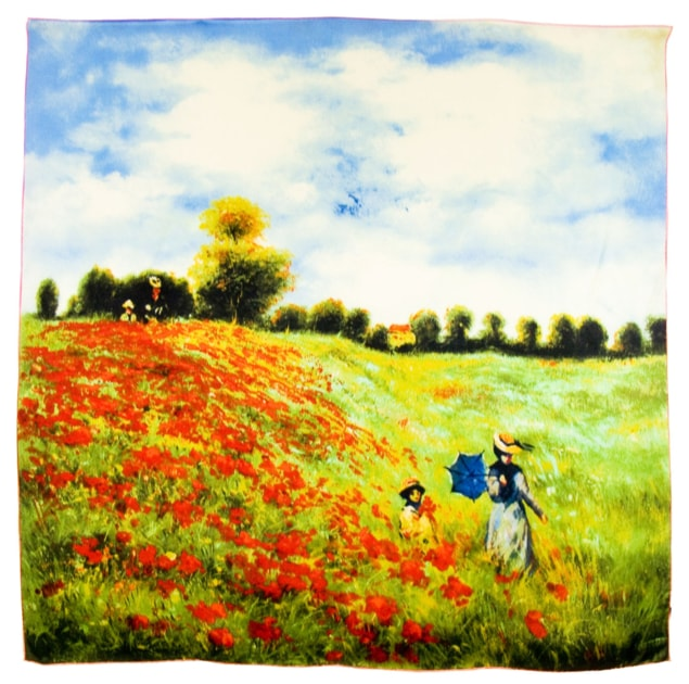 Foulard en soie carré artysilk les coquelicots Claude Monet