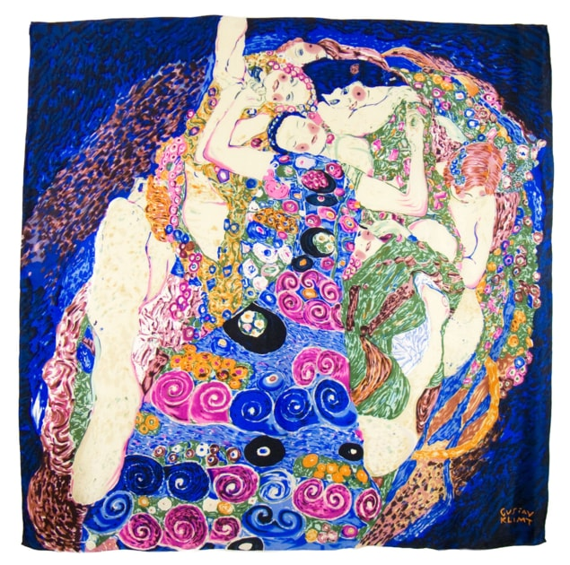 Foulard en soie carré artysilk Les vierges Gustav Klimt