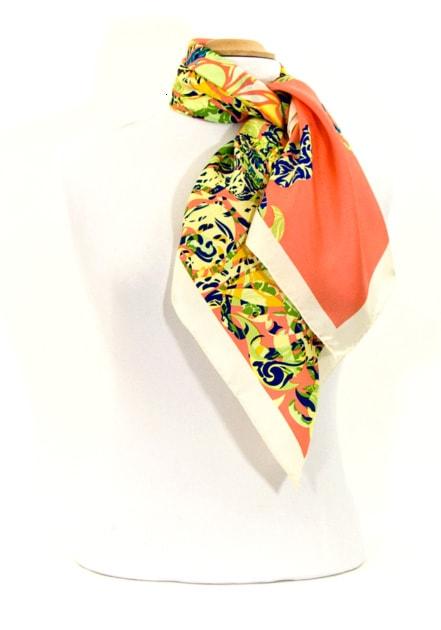 foulard-en-soie-rose-saumon-volutes-premium-csgp-fan-19-2 copie-min