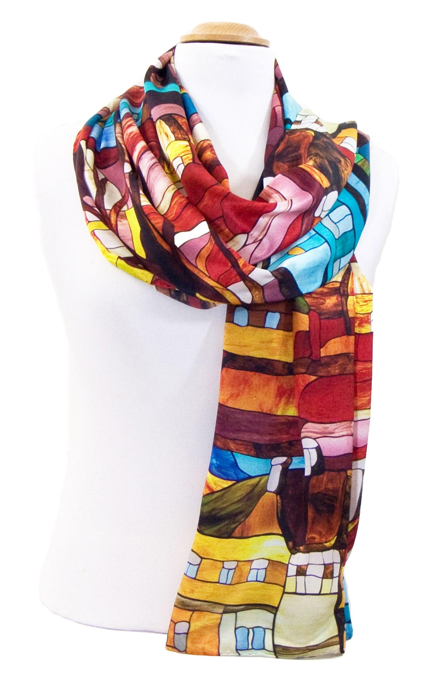 foulard en soie rouge urban 3