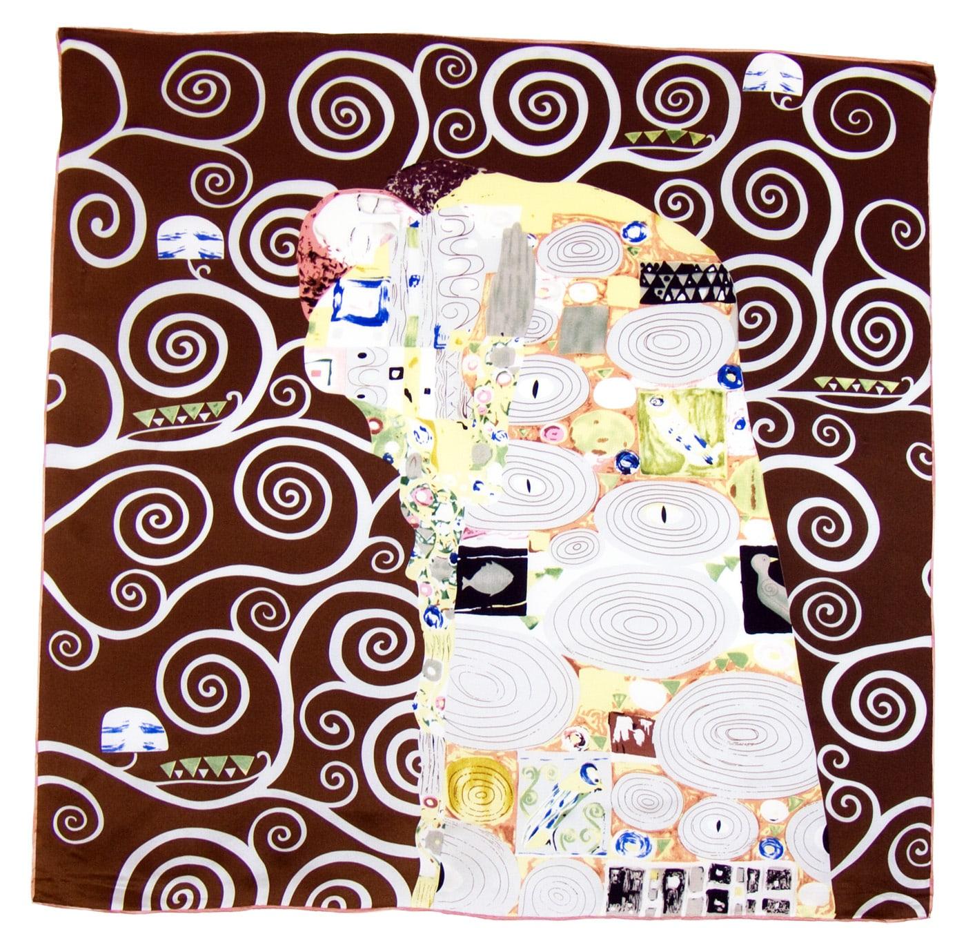 Foulard en soie carré artysilk L\'accomplissement Klimt