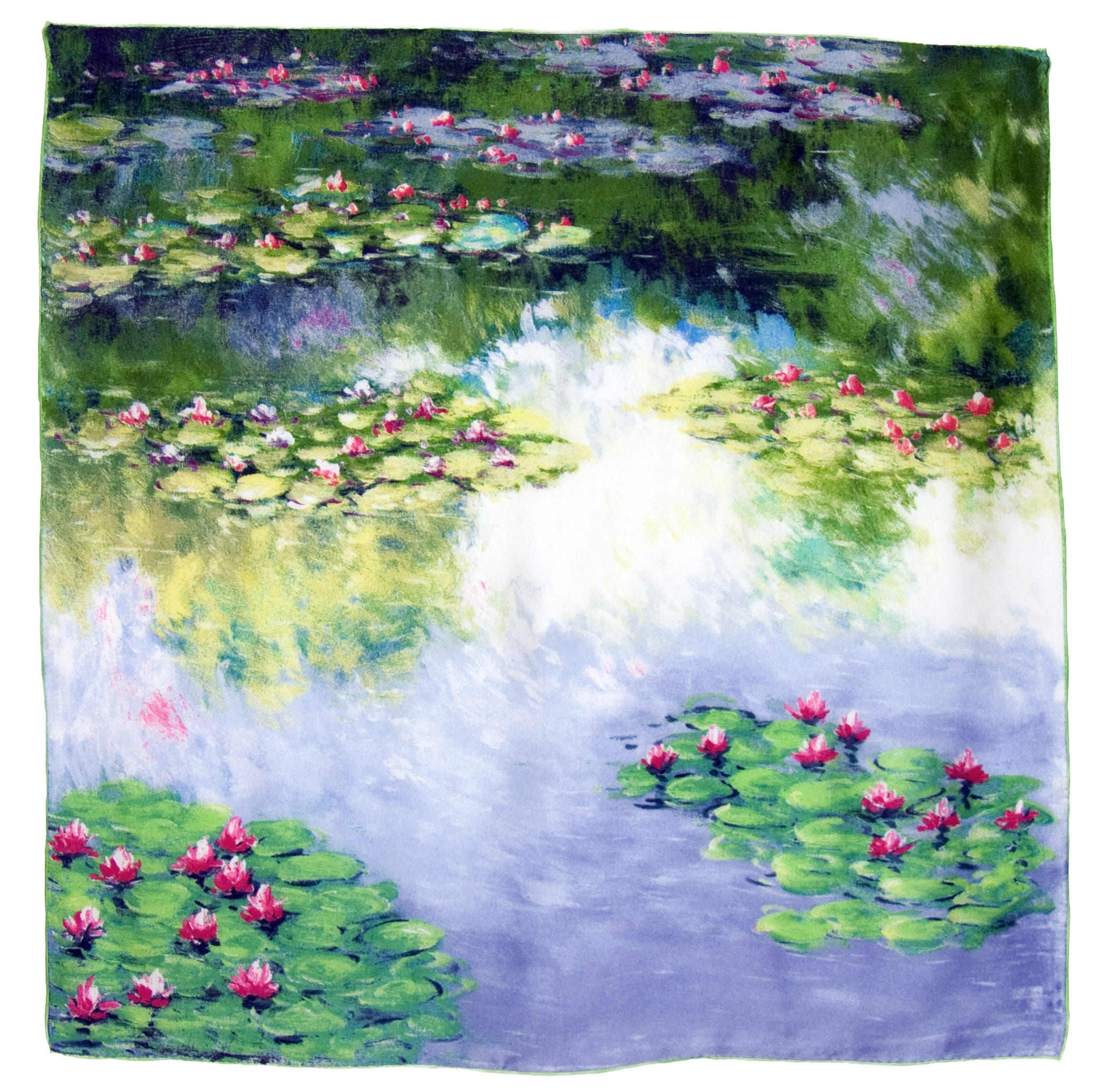 Foulard en soie carré artysilk les nénuphars claude Monet