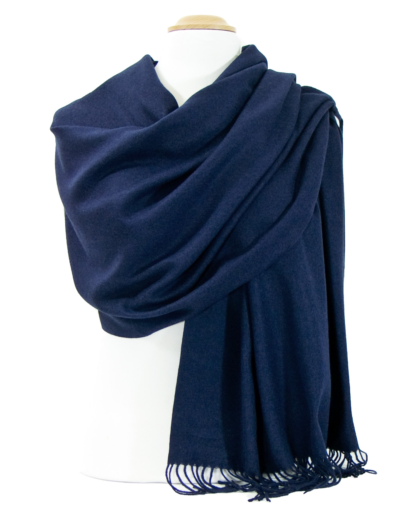 Etole bleu marine cachemire et laine Edition limitée - Etole laine Etole  laine cachemire - Mes Echarpes 8cd8308461e