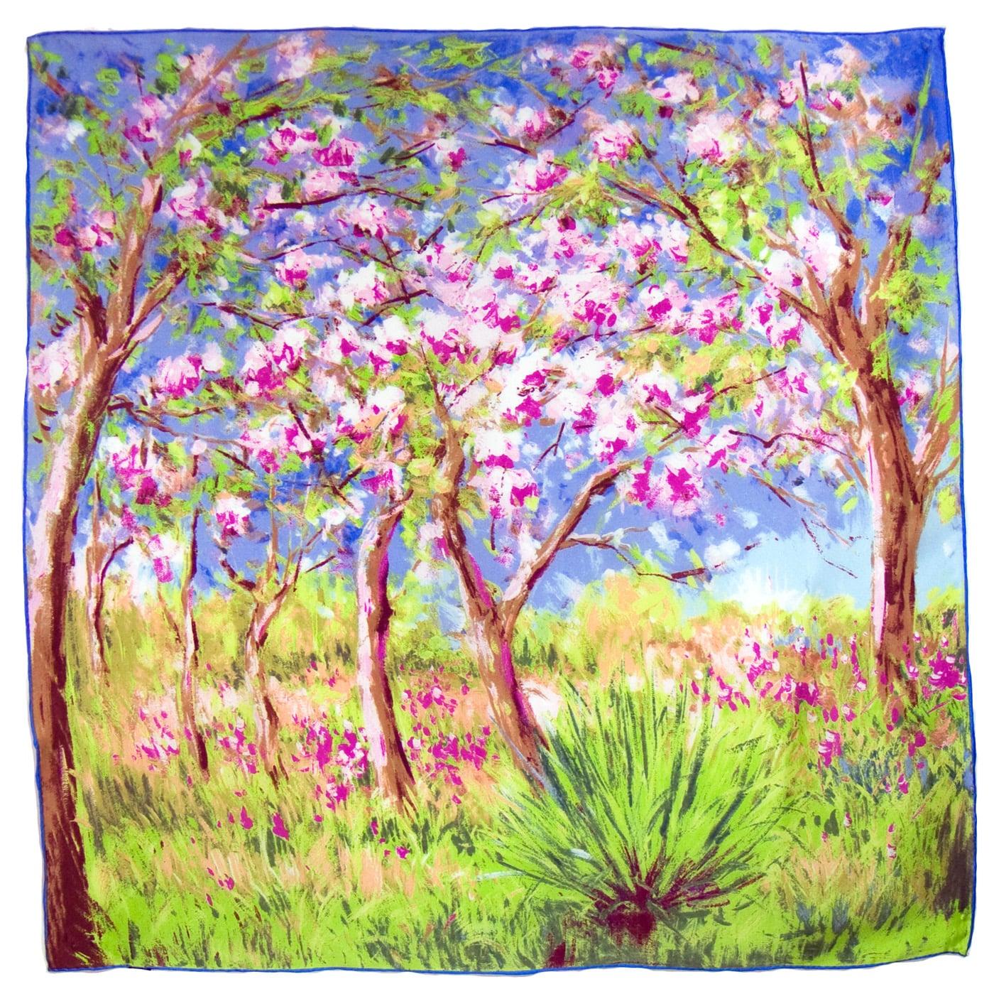 Carré de soie artysilk Claude Monet Printemps à Giverny