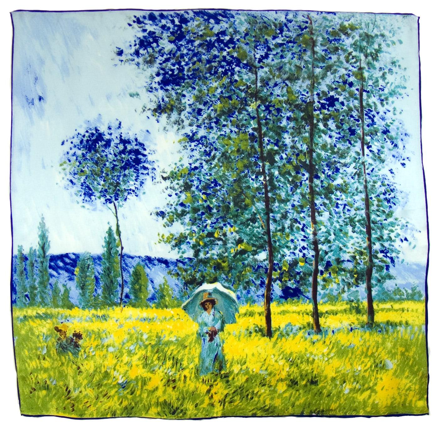 Carré de soie artysilk Claude Monet Sous les peupliers