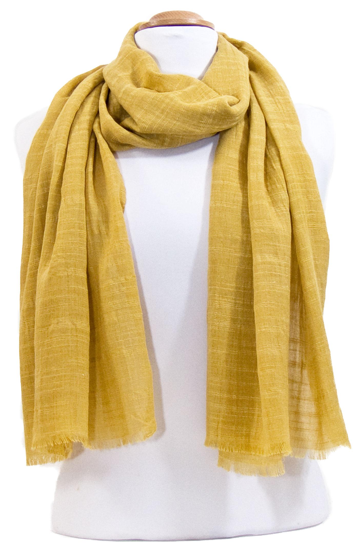 1cb25dfec698 Foulard chèche jaune moutarde lin coton premium - Matière Foulard lin - Mes  Echarpes