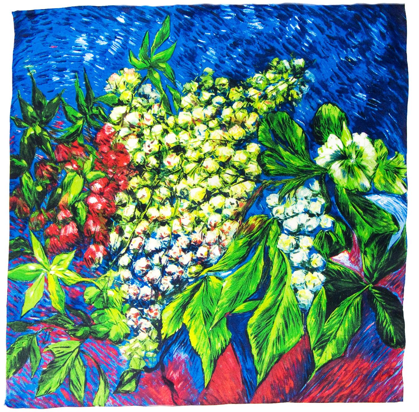 carré en soie bleu muguet 5