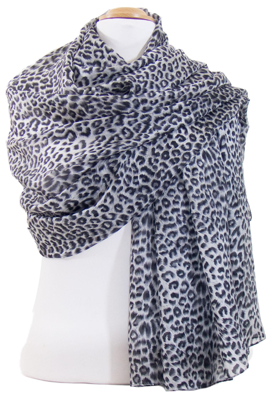 Etole en soie noir léopard sonia - Etole soie Etole soie classique - Mes  Echarpes 91f36fed998