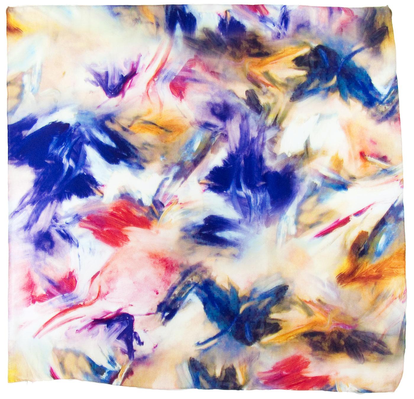 carré soie bleu lucia  1