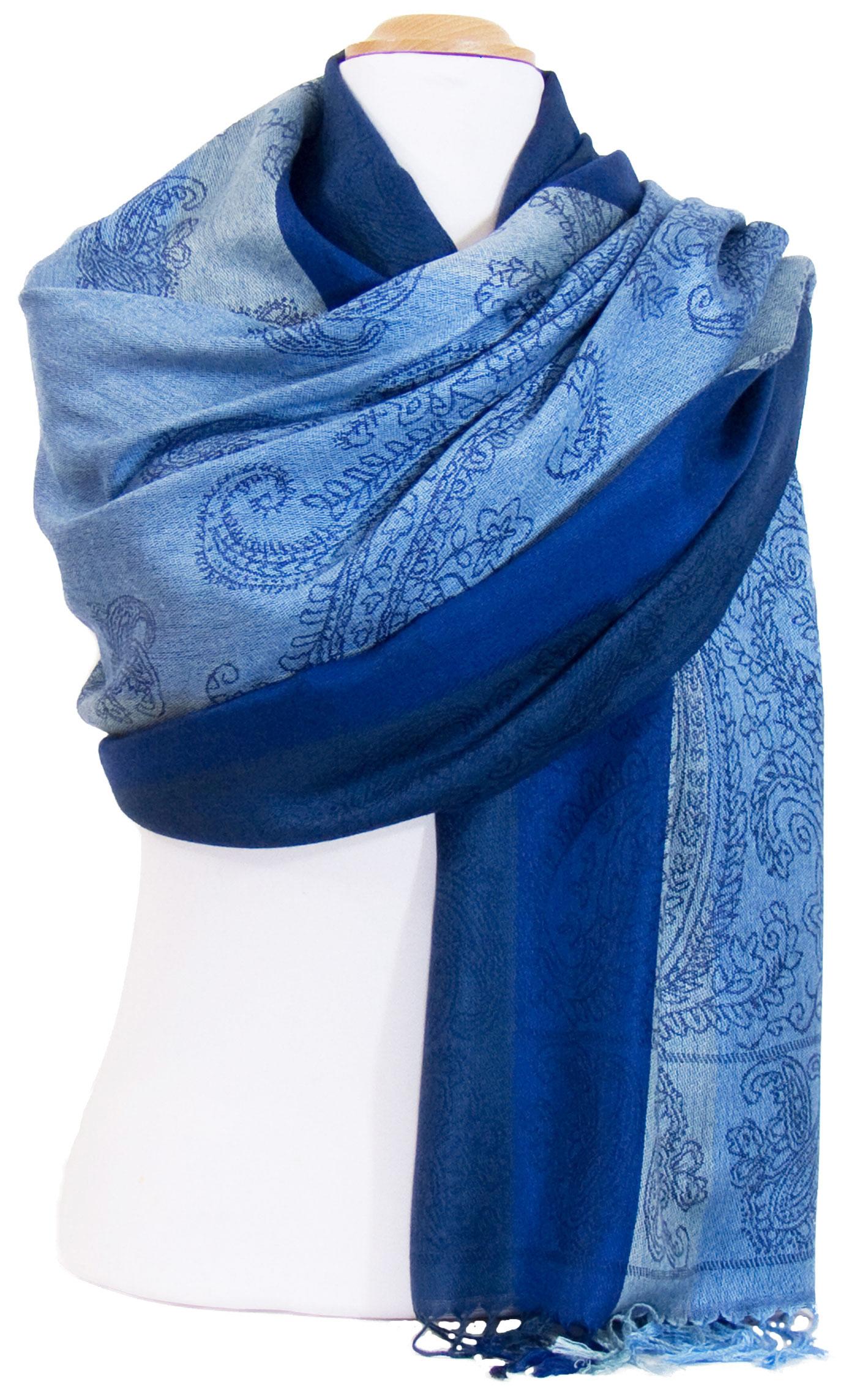 d59352e63f2 Couleur - Etole bleue - Mes Echarpes