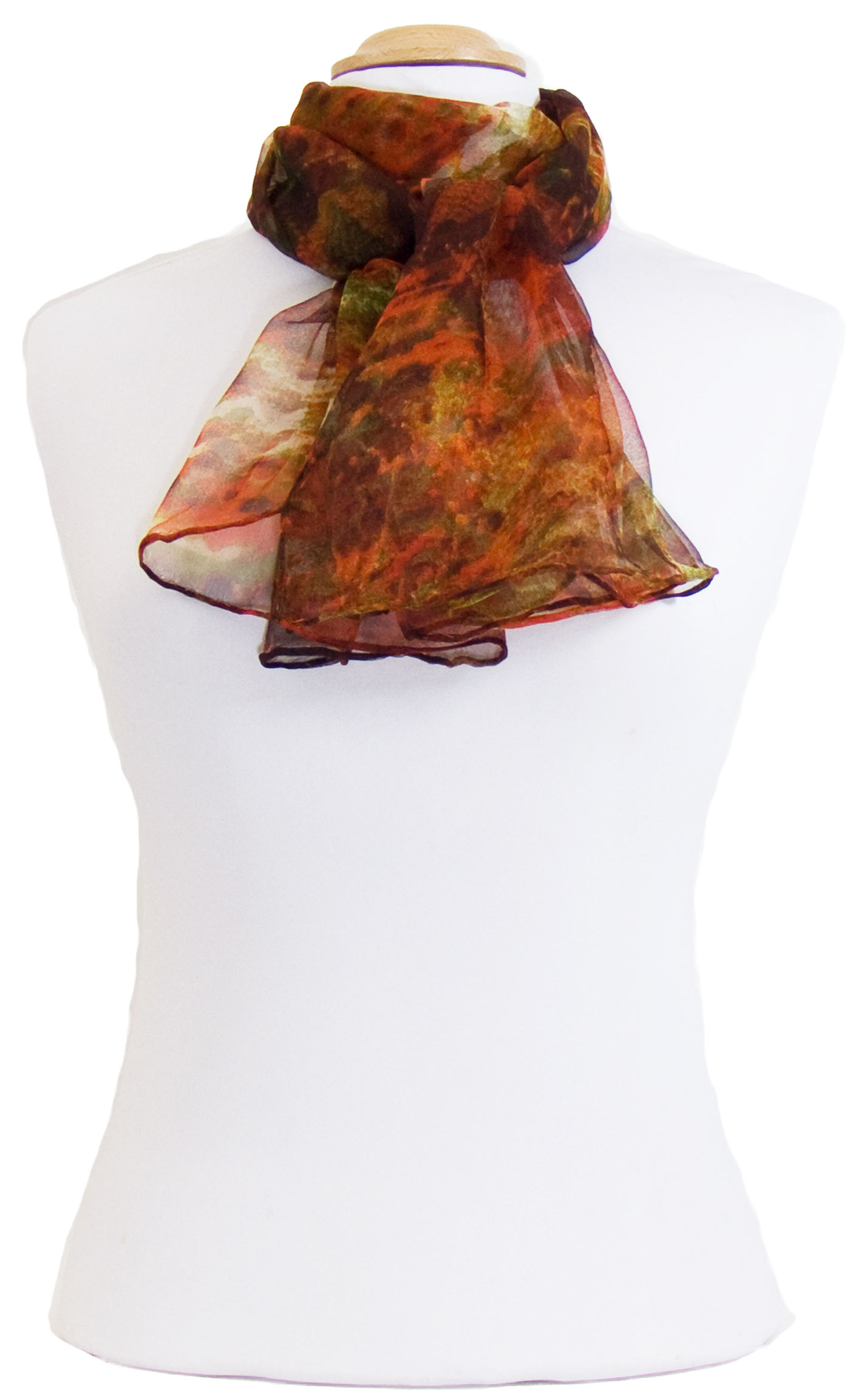 Couleur - Foulard orange - Mes Echarpes 59058bd5838